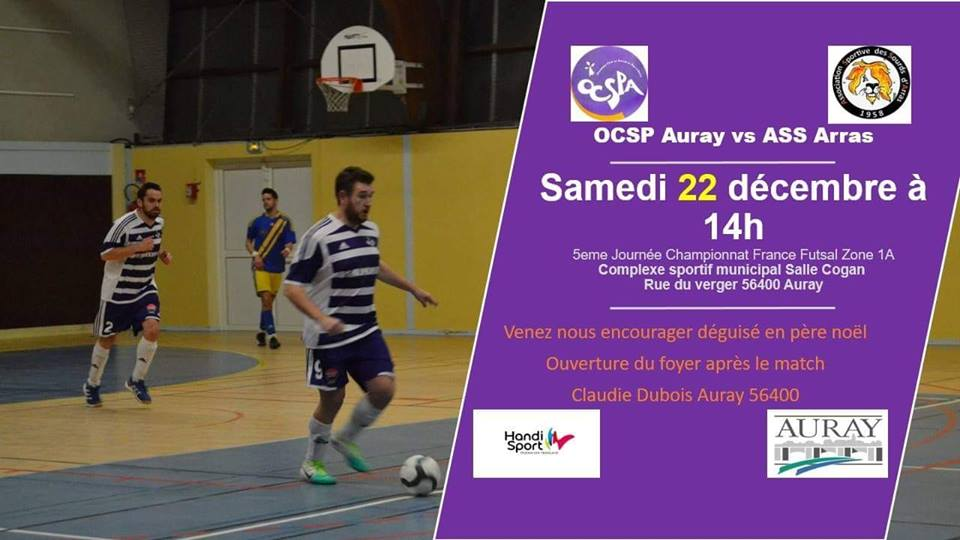 Photo of 22 Décembre : Auray vs Arras à Auray