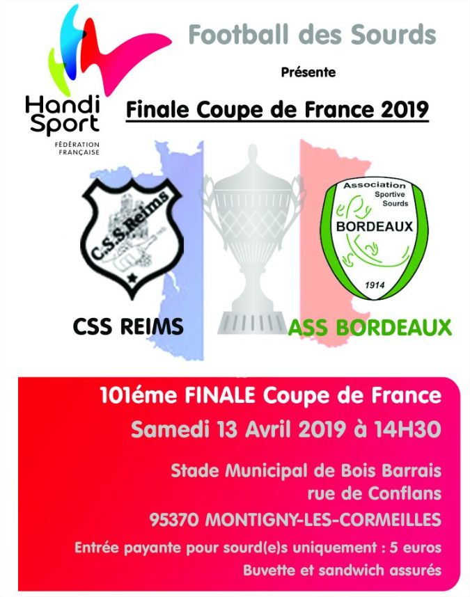 Photo of 13 Avril : Coupe de France à Montigny-les-Cormeilles