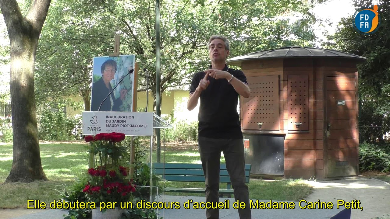 Photo of 01 – Inauguration Jardin Maudy : Ouverture en LSF