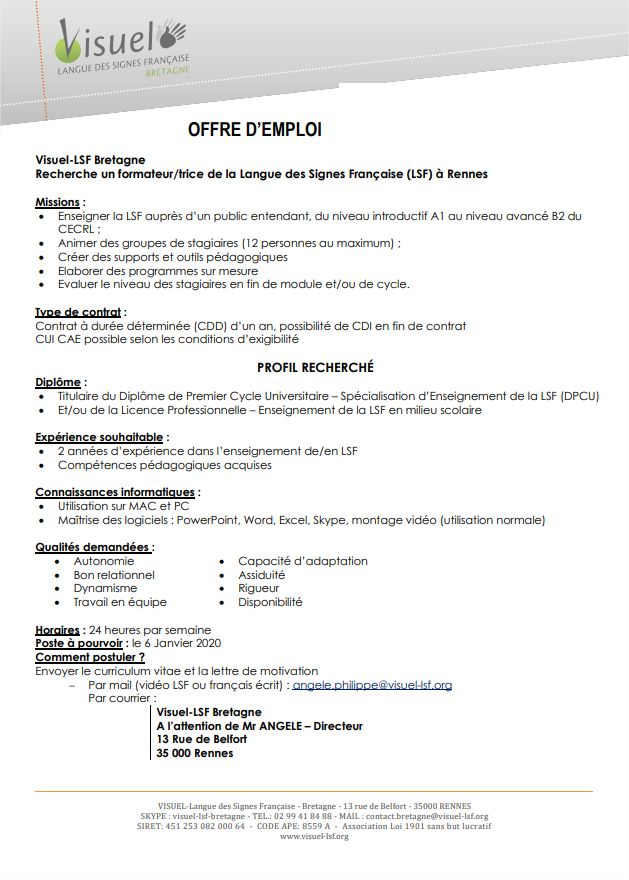 Photo of Offre d'emploi